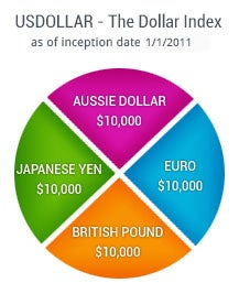 This is a pie chart showing the USDOLLAR Basket
