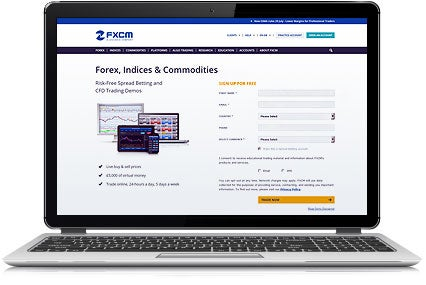 FXCM - Laptop with Practice Account