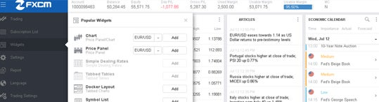 FXCM - Trading Station Web - News and Calendar