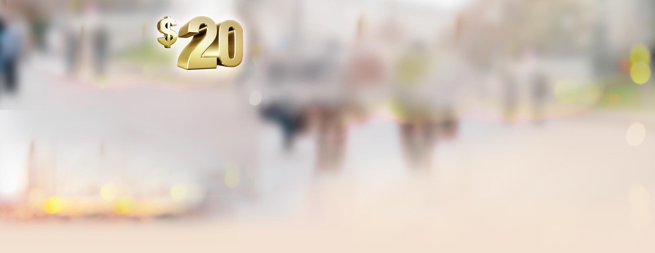Twenty Welcome Bonus